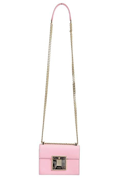 22e9d2b8e4b Versace Women's Light Pink Leather Small Satchel Shoulder Bag: Amazon.ca:  Shoes & Handbags