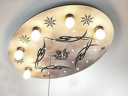 Niños - Lámpara LED de techo estilo gótico, interruptor de ...