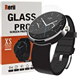 Moto 360 Screen Protector - Rerii Tempered Glass, Screen Protector for Moto 360 1st Generation, Moto 360 2nd Generation 46mm Watch Real Glass Screen Protector
