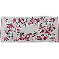 SODIAL 70 * 135cm Floral Pattern Cotton Bath Towels for Adults,High Quality Beach Towel Bath Towels BathroomPink