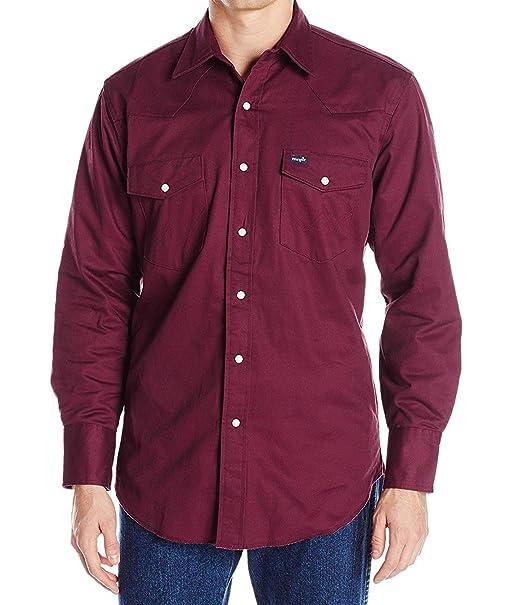 Amazon.com: Wrangler camisa de trabajo con forro de franela ...