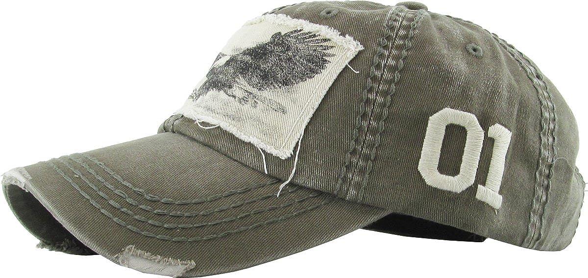 KBETHOS Eagle and Free Spirit Distressed Baseball Cap Dad Hat Adjustable Unisex Fashion