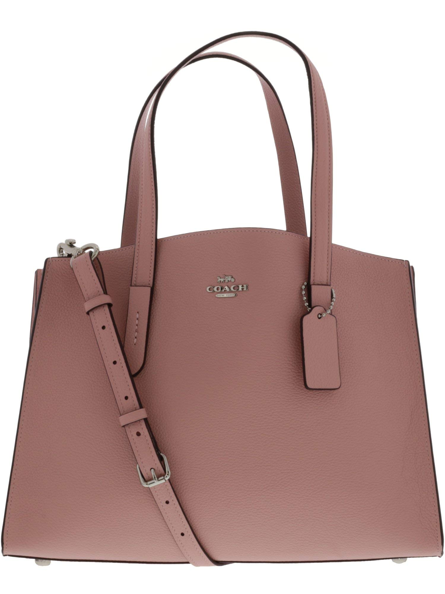 COACH Womens Polished Pebble Leather Charlie Carryall