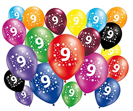FABSUD 20 Unidades Globos Cumpleaños 9 años