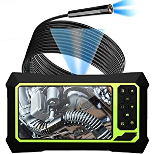 Upgraded Industrial Endoscope Camera with Lights, 1080P Pro HD Digital Borescope Camera 4.3 Inch LCD Screen Inspection Camera, Waterproof Snake Camera with 8 Bright LED Lights Gift for Men