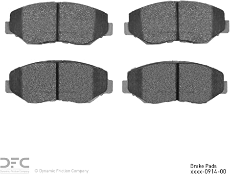 Amazon Com Dfc Front Set Dynamic Friction Company 5000 Advanced Brake Pads 1551 0914 00 Automotive