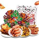 口水娃鱼肉零食小吃1000g 鱼豆腐豆干分享装休闲零食大礼包 (混合味)