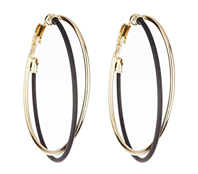 Clip On Hoop Earrings - Gold Plated Hoops - Delia by Bello London 1F4wbk9I9h