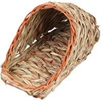 Hemobllo Hamster Nest Hand-Woven Hamster House Bunny Grass House Small Animals Hideout for Chinchilla Hamster Hedgehog…