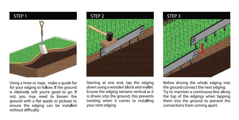 CORE Edge Flexible Steel Edging (65mm, COR-Ten) CORE Landscape Products