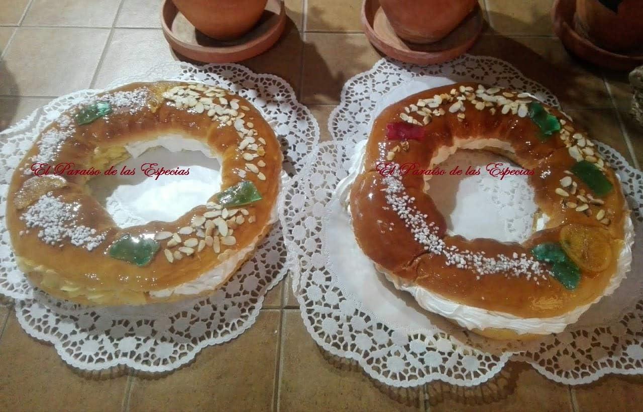 Roscón de Reyes - Masa de Cuñas - Preparado Brioche - Uvas de las Suerte - Preparado Facil