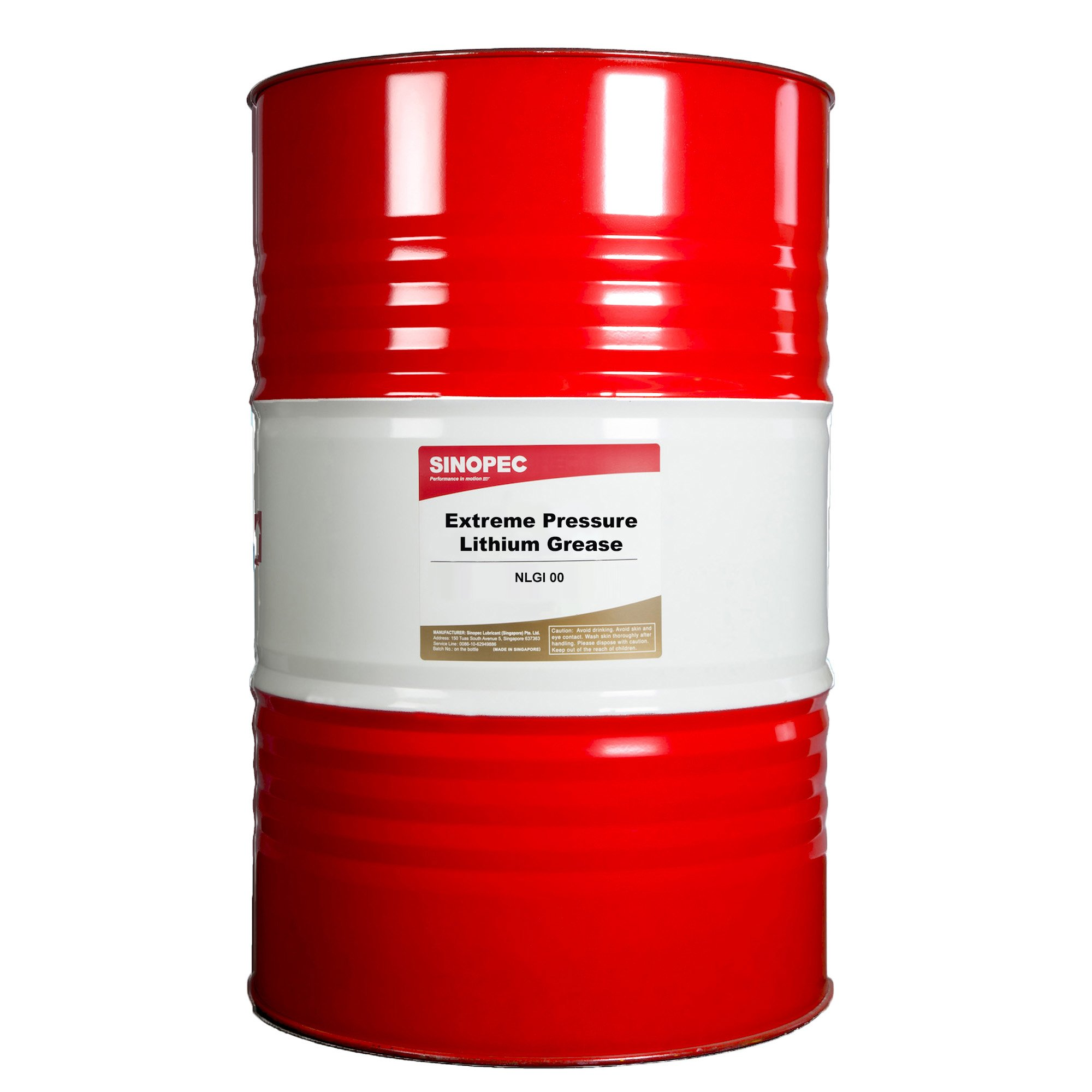 Sinopec EP00 Extreme Pressure Lithium Grease Drum, 400 lb. by Sinopec