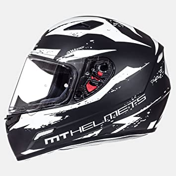 MT - Casco Integral MT MUGELLO Vapor Negro/Blanco Talla S