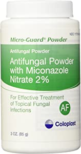 MICRO-GUARD POWDER ANTIFUNGAL. CONTAINS 2% MICONAZOLE NITRATE. WORKS WELL UNDER SKIN FOLDS. TREATS - 3 oz(85g)