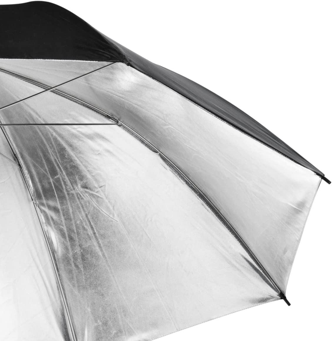 Black//Silver Walimex Reflex 109cm 2 Layer Umbrella