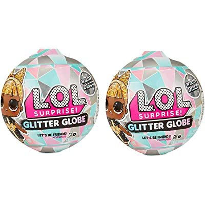Glitter Globe L.O.L Surprise (8 Surprises) - Winter Disco - Set of 2 Globes: Toys & Games