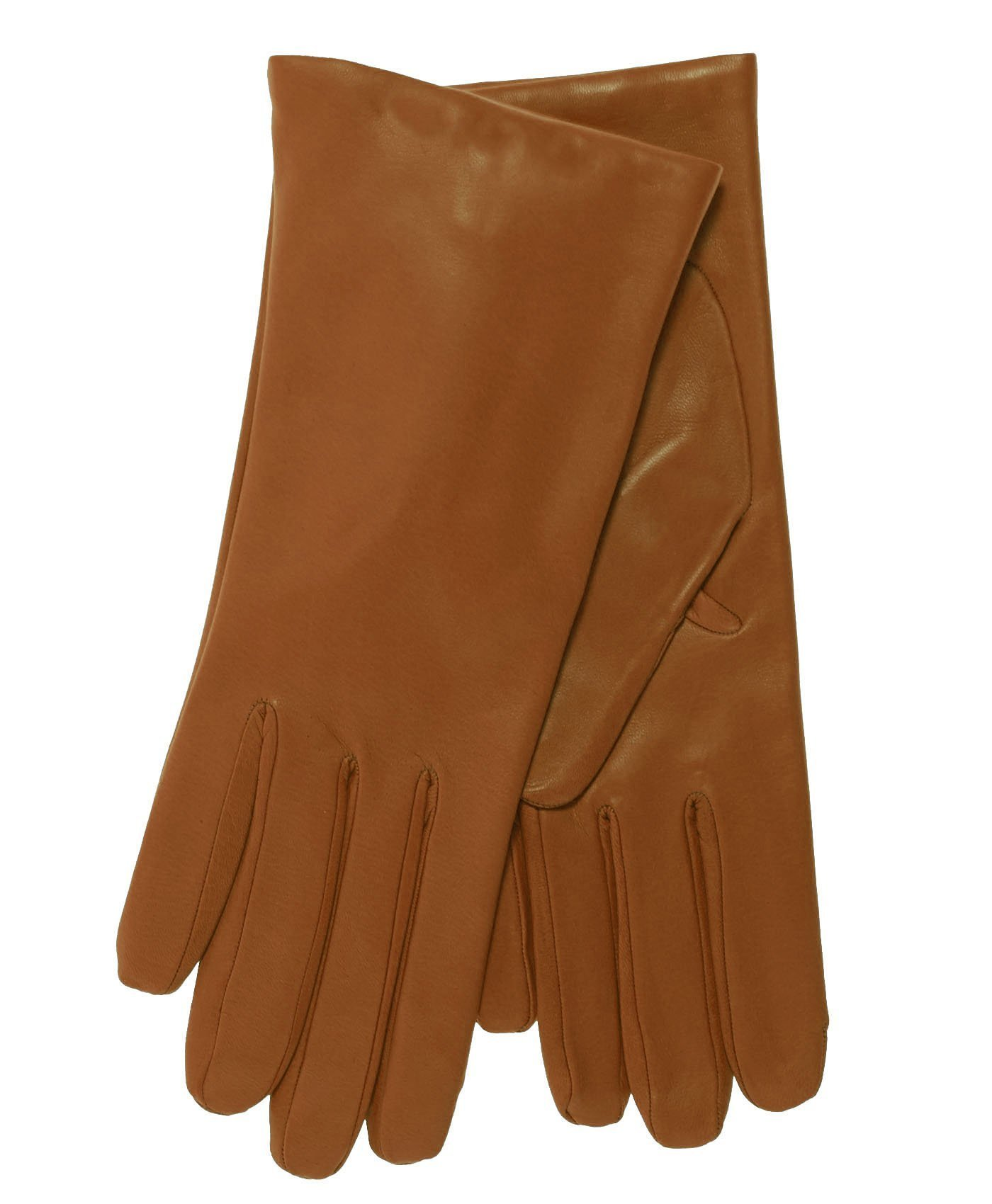 Fratelli Orsini Everyday Women's Italian Cashmere Lined Leather Gloves Size 7 1/2 Color Cognac by Fratelli Orsini Everyday