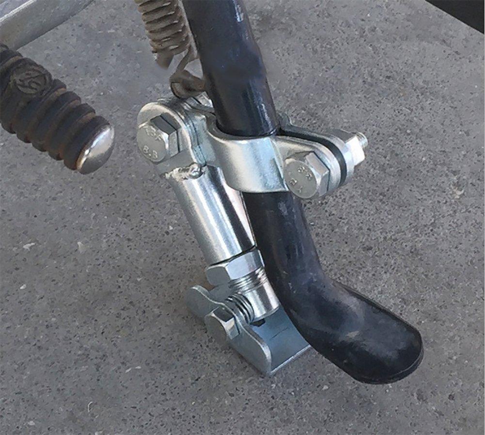 BMDHA Support De Bé quille Laté ral pour Moto Ajuster Les Pieds Support Solide Stabilisateur É volutif É viter Le Glissement D'inclinaison De La Moto