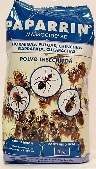 Polvo insecticida contra hormigas, pulgas, chinches, garrapatas y cucarachas. 1 kg: Amazon.es: Jardín
