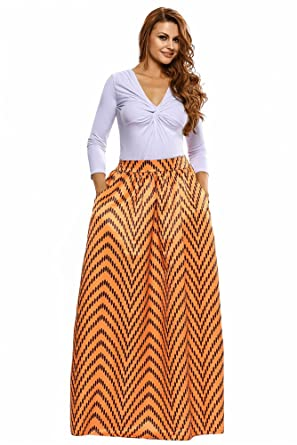 Amazon.com: VIGVOG Women\'s Ethnic Plus-Size African Print Pull-On ...