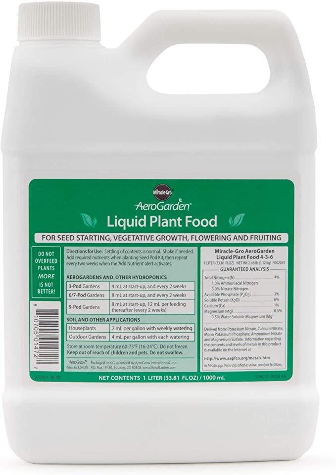 AeroGarden Liquid Nutrients-Best For Beginners