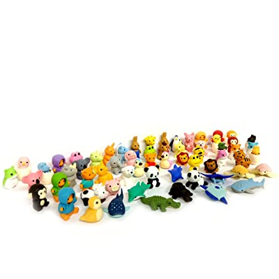 Iwako Erasers Animal Overstock Pack of 10 (Animals Will be Randomly Selected): Toys & Games