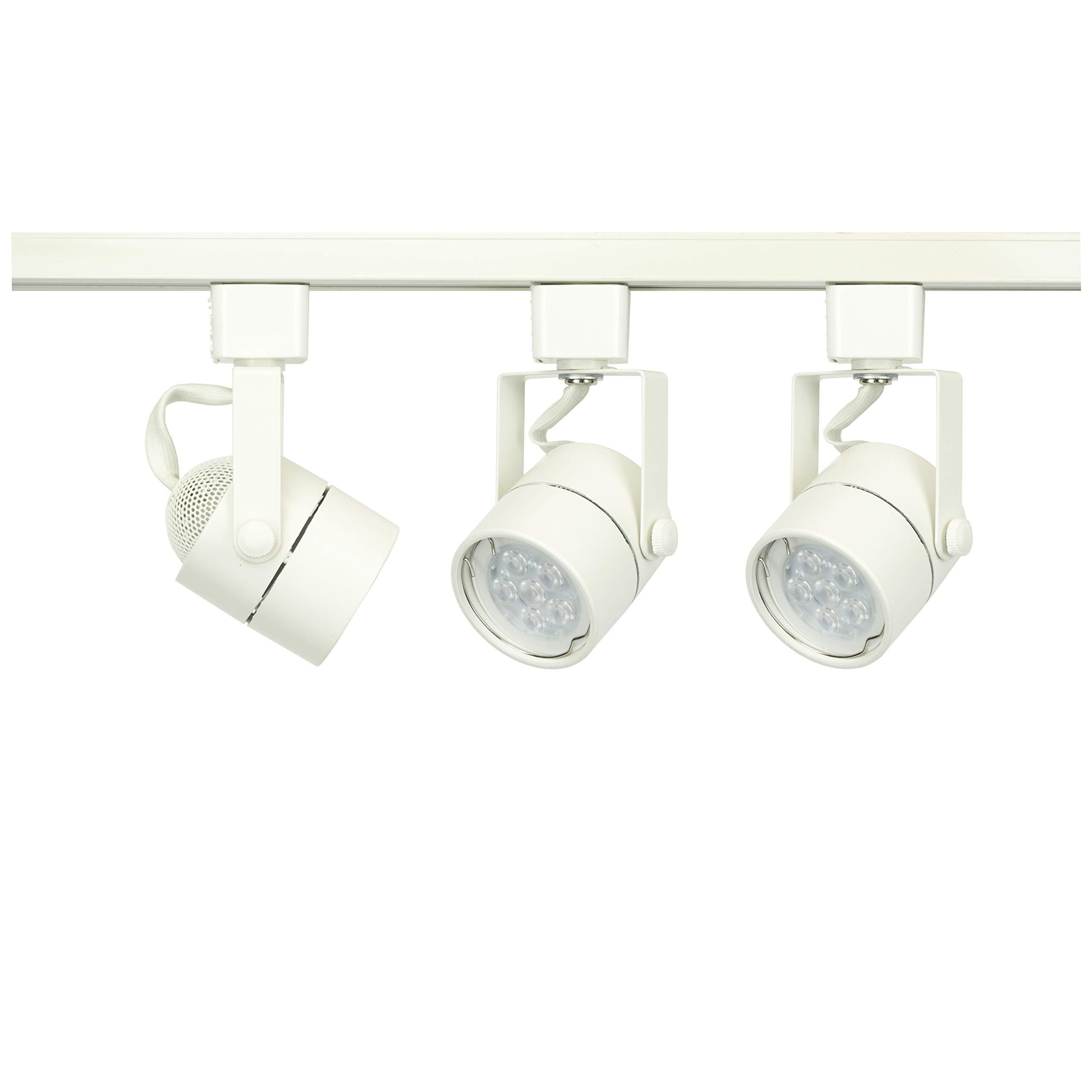 D&D Brand H System 3-Lights GU10 7.5W LED Track Lighting Kit White 3K (500 lumens) Warm White HTC-9154-330K-WH Bulbs Included