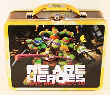 d4d04d4986a3 Teenage Mutant Ninja Turtles TMNT Embossed Metal Lunch Box (Heroes)