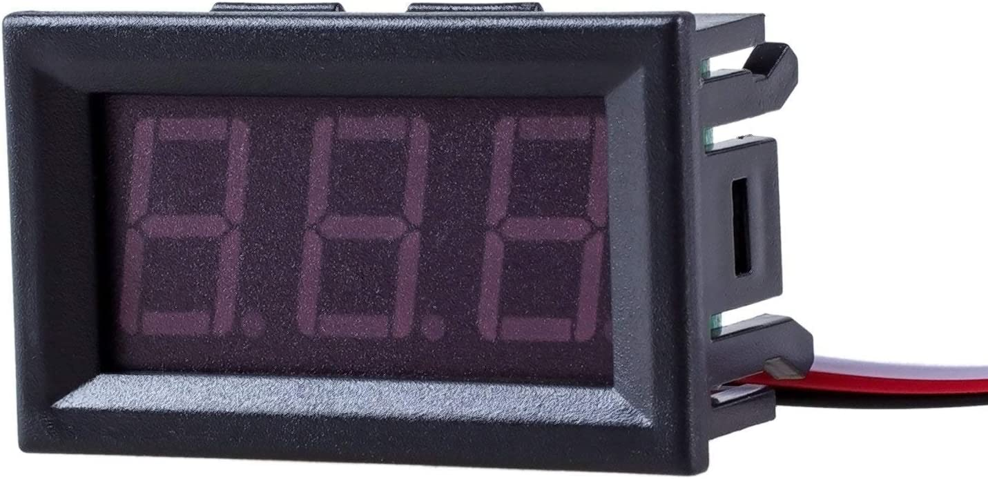 SODIAL(R) Mini Voltimetro Medidor de Voltaje Presion Digital DC 0-30V Rojo