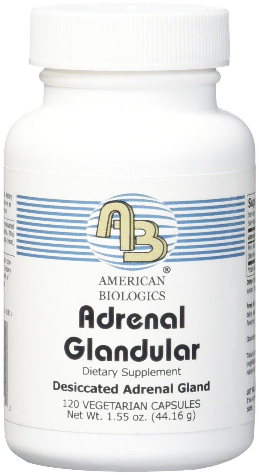 American Biologics Adrenal Glandular capsules 120 Count