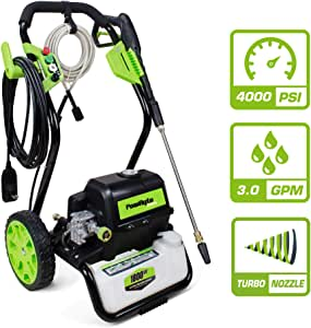 PowRyte Elite Electric Pressure Washer, Electric Power Washer with 5 Interchangeable Spray Tips, Ideal for Washing Garden, House, Farm and So On: 4000PSI 3.0 GPM