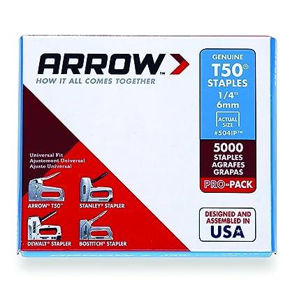 Arrow Fastener 504IP Genuine T50 1/4-Inch Staples, 5,000-Pack