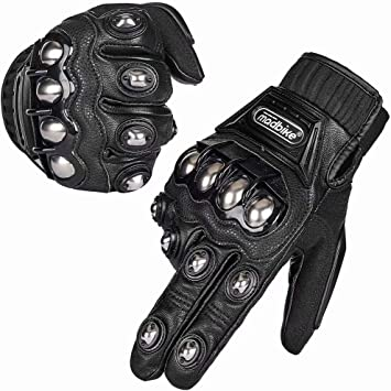 Motorcycle Riding Gloves With Knuckle Protection Plate