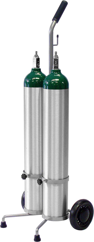 2 Cylinder D/E Oxygen Cylinder Cart