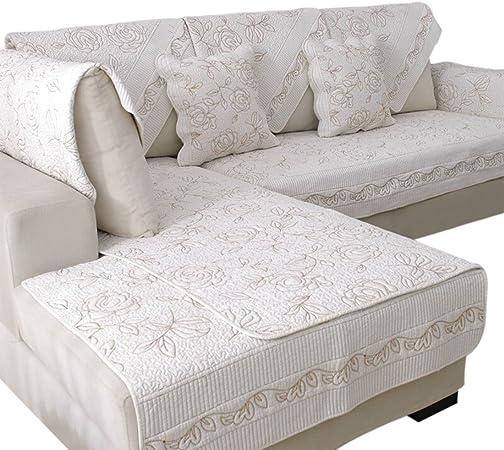 Freahap 1pc Funda Cubre Sofá Tejido Jacquard Floral Cubre Sofás Chaise Longue de 100% Algodón Cómodo Suave Decorativo para Sala de Estar #1 S: Amazon.es: Hogar
