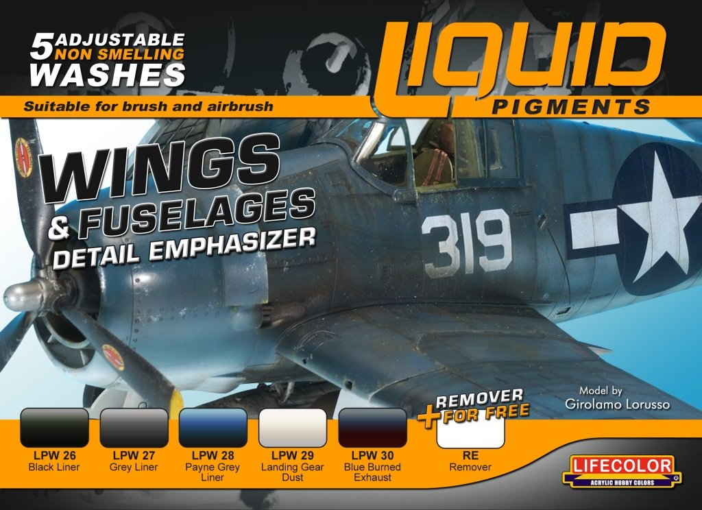 LifeColor Liquid Pigments 6-Set LP06 WINGS & FUSELAGES