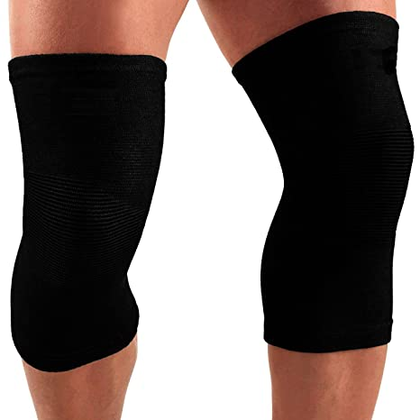 ec16e10c36 Buy EDEAL Knee Cap Compression Support Sleeve For Pain Relief Running super  deluxe quality Sports Gym fits Men and Women - M201 (L) Online at Low  Prices in ...
