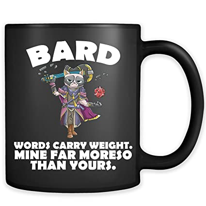Amazon com: Bard Cat Black Mug - Funny Class DND D&D Dungeons And