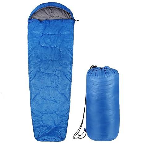 INTEY Saco de Dormir Tipo Momia Impermeable 4 Estaciones, Color Azul