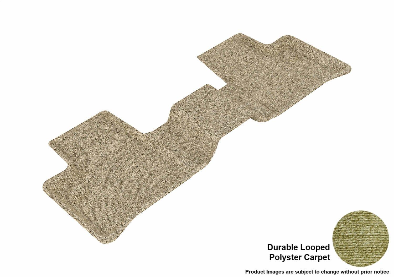 Tan 3D MAXpider Second Row Custom Fit Floor Mat for Select Mercedes-Benz ML-Class//GL-Class Models Classic Carpet