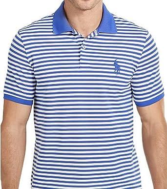 27dc90c48 POLO GOLF Ralph Lauren Men s Custom-Fit Performance Stripe Polo Shirt  (Medium