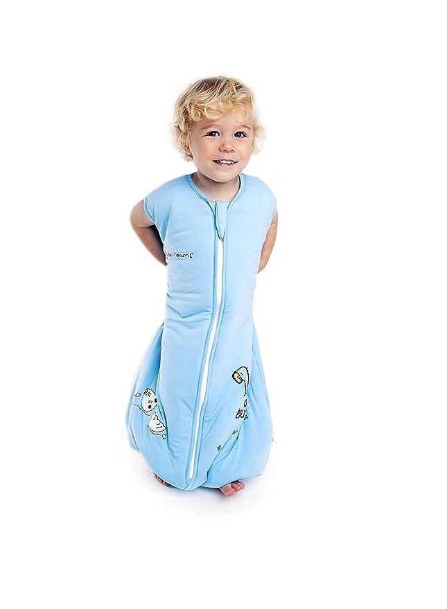 Slumbersac- Saco de dormir de verano, de tejido de bambú y con pies de dinosaurio 1.0 gramaje - Diferentes tallas azul azul Talla:12-18 meses: Amazon.es: ...