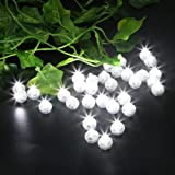 Accmor 100pcs LED Mini Round Ball Balloon Light, Long Standby Time Ball Lights for Mother's Day Gift Paper Lantern Balloon Party Wedding Decoration(White)