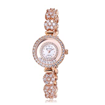 4012194a3 Amazon.com: Royal Crown Women's Quartz Watch Luxury Silvery Rhinestone  Bangle Watch Jewelry Waterproof Women Fashion Wrist Wrist Watch: Watches