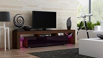 design de qualité f84b9 a3b85 Milano Meuble TV - Moderne Table TV avec étagères en Verre ...