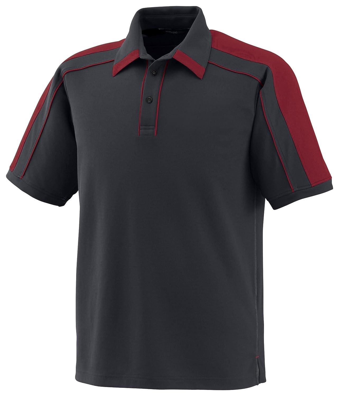 Sonic Mens Performance Polyester Pique Polo Shirt XL Sport Red Black Silk