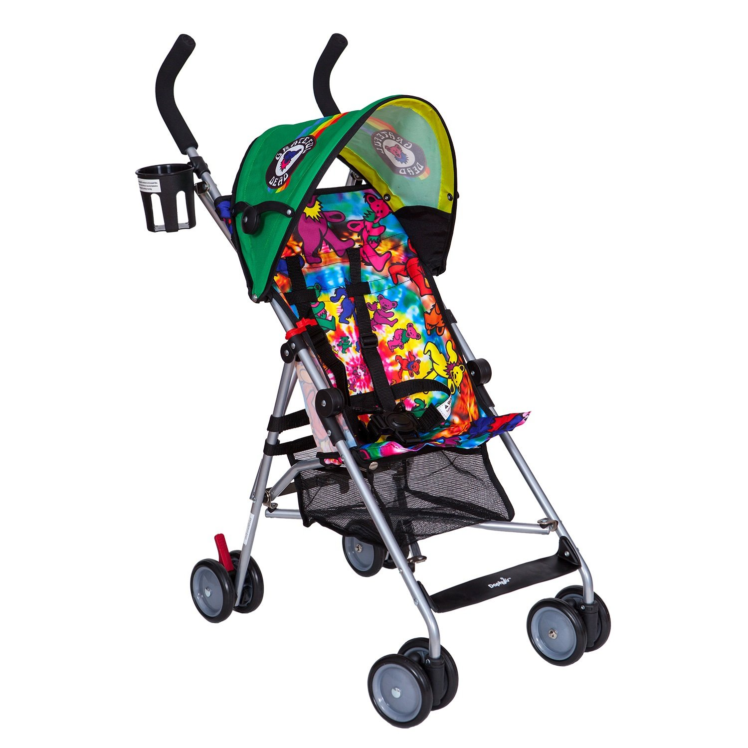 Grateful Dead Ultralight Umbrella Stroller, with Canopy, and Shoulder Strap by Daphyl s
