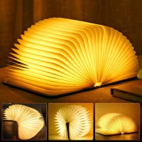 Molbory Wooden Book Light,Novelty Folding Book Lamp, Folding Night Light,USB Rechargeable Wooden Table Lamp,Magnetic…