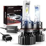 SEALIGHT H13/9008 LED Headlight Bulbs Dual High/Low Beam X1 Series Xenon White 6000K 6000LM