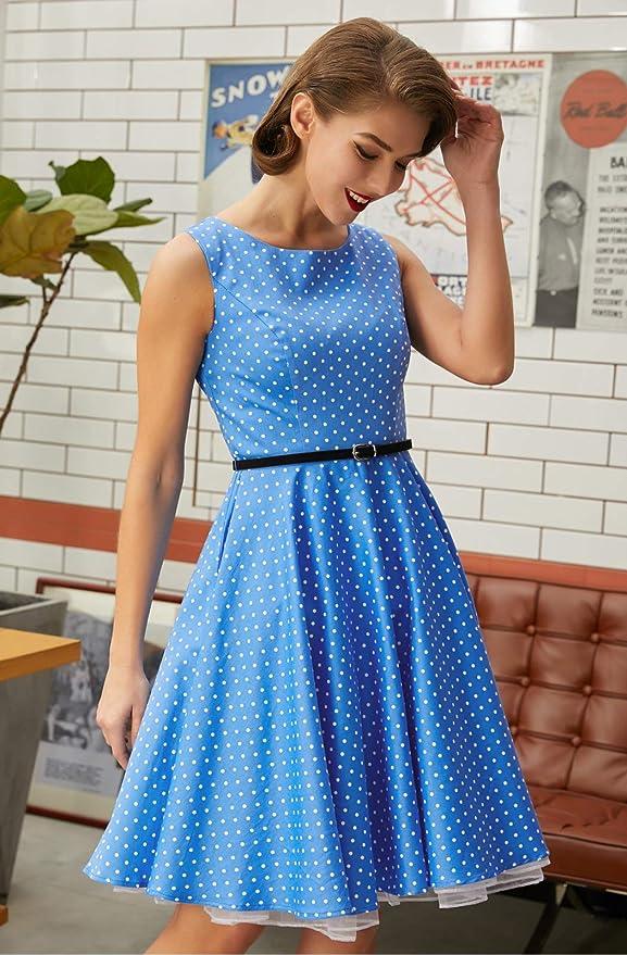 超经典的复古波点裙,你还不pick一条?